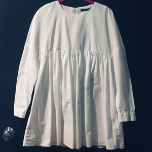 zara trafaluc collection long sleeve romper-dress